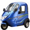 电动三轮舒适型全封闭款代步电瓶充电三轮车