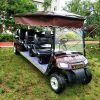 电动8人座四轮景区定制观光车景区公园带装饰帘农庄巡逻车