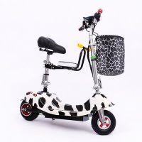 小海豚女士电动滑板车 城市迷你电动自行车代步车 便携折叠电瓶车