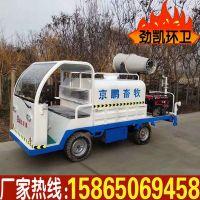 推荐电动四轮加装雾炮洒水车降尘除尘雾炮电动洒水车小型